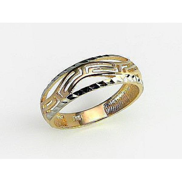 """Zelta gredzens """"Grieķu Motīvi III"""" no 585 proves sarkanā zelta"""