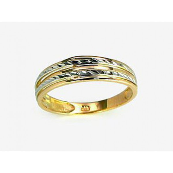 """Zelta gredzens ar topāzu """"Burvīgā Izcilība II"""" no 585 proves sarkanā zelta"""