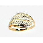 """Zelta gredzens ar topāzu """"Čūska āda"""" no 585 proves sarkanā zelta"""