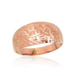 """Zelta gredzens """"Ariele III"""" no 585 proves sarkanā zelta"""