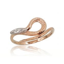 """Zelta gredzens """"Čūska Kārdinātāja"""" no 585 proves sarkanā zelta"""