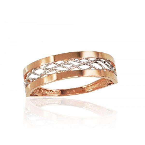 """Zelta gredzens """"Afrodīte"""" no 585 proves sarkanā zelta"""