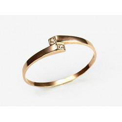 """Zelta gredzens ar topāzu """"Komēta"""" no 585 proves sarkanā zelta"""
