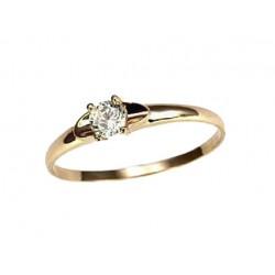 "Zelta gredzens ""Klasika Gold XII"" no 585 proves sarkanā zelta"
