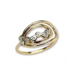 """Zelta gredzens """"Ērika"""" no 585 proves sarkanā zelta"""