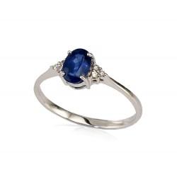 """Zelta gredzens ar briljantiem """"Izsmālcinātība"""" no 585 proves baltā zelta"""
