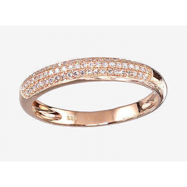 "Zelta gredzens ar briljantiem ""Melisandra IV"" no 585 proves sarkanā zelta"