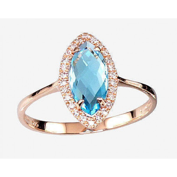 "Zelta gredzens ar briljantiem ""Asorti"" no 585 proves sarkanā zelta"