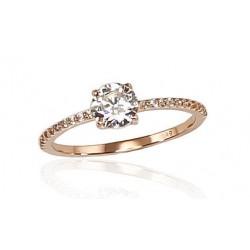 """Zelta gredzens """"Klasika Gold II"""" no 585 proves sarkanā zelta"""
