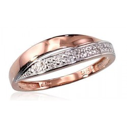 "Zelta gredzens ar briljantiem ""Zelta Raksts X"" no 585 proves sarkanā zelta"