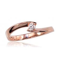"Zelta gredzens ar briljantiem ""Komēta V"" no 585 proves sarkanā zelta"