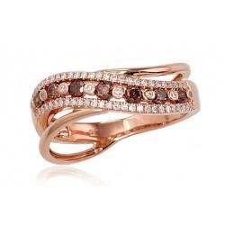 """Zelta gredzens ar briljantiem """"Saturns"""" no 585 proves sarkanā zelta"""