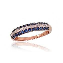 """Zelta gredzens ar topāzu """"Zvaigznājs IV"""" no 585 proves sarkanā zelta"""