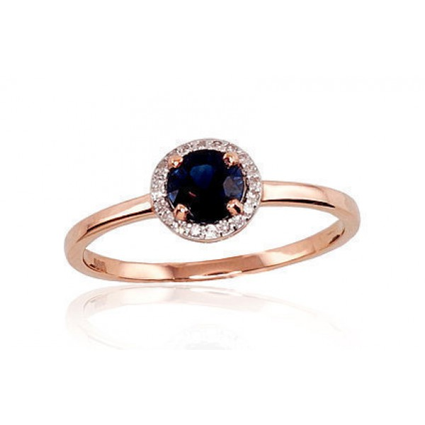 """Zelta gredzens ar briljantiem """"Burvība VII"""" no 585 proves sarkanā zelta"""
