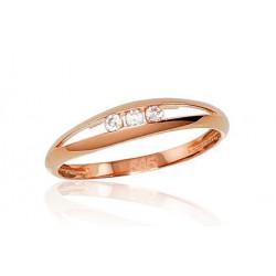 """Zelta gredzens """"Tokija XIII"""" no 585 proves sarkanā zelta"""