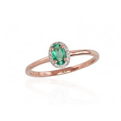 """Zelta gredzens ar briljantiem """"Izsmālcinātība VI"""" no 585 proves sarkanā zelta"""