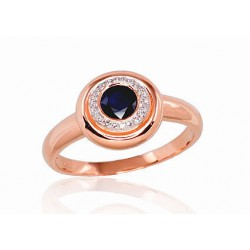 """Zelta gredzens ar briljantiem """"Safīra Gaisma II"""" no 585 proves sarkanā zelta"""