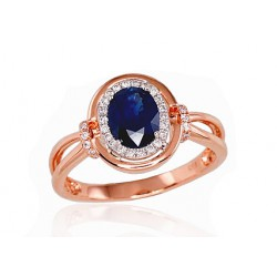 "Zelta gredzens ar briljantiem ""Ferro IX"" no 585 proves sarkanā zelta"