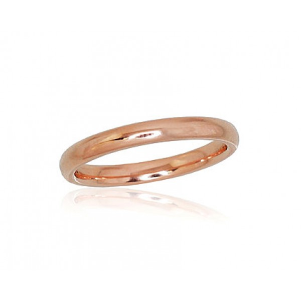 "Zelta laulības gredzens ""Klasika VIII"" no 585 proves sarkanā zelta"