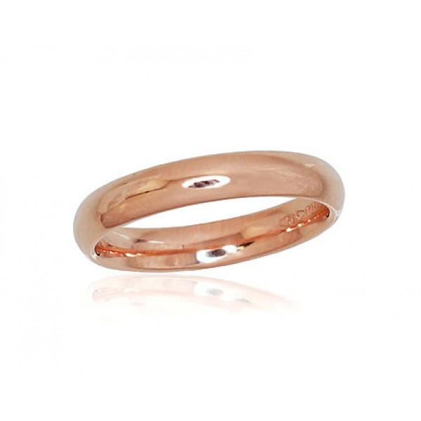 """Zelta laulības gredzens """"Klasika VII"""" no 585 proves sarkanā zelta"""