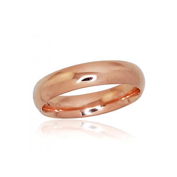 "Zelta laulības gredzens ""Klasika VI"" no 585 proves sarkanā zelta"