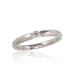 """Zelta gredzens ar briljantiem """"Jaunā Klasika"""" no 585 proves baltā zelta"""