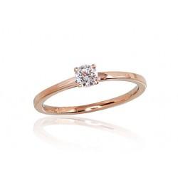 """Zelta gredzens ar briljantiem """"Solitire IX"""" no 585 proves sarkanā zelta"""