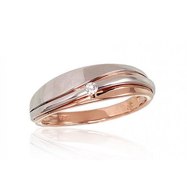"Zelta gredzens ar briljantiem ""Hestija"" no 585 proves sarkanā zelta"