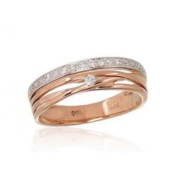 "Zelta gredzens ar briljantiem ""Atbilstība V"" no 585 proves sarkanā zelta"