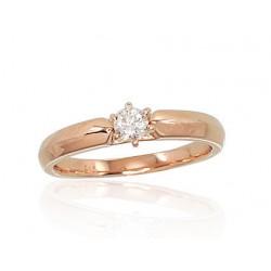 """Zelta gredzens ar briljantiem """"Jaunā Klasika VII"""" no 585 proves sarkanā zelta"""