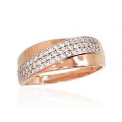 """Zelta gredzens """"Zelta Raksts"""" no 585 proves sarkanā zelta"""