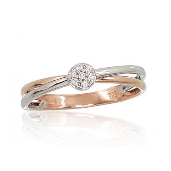 """Zelta gredzens ar briljantiem """"Grācija VI"""" no 585 proves sarkanā zelta"""