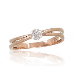 """Zelta gredzens ar briljantiem """"Grācija V"""" no 585 proves sarkanā zelta"""