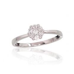 """Zelta gredzens ar briljantiem """"Dimanta Zieds II"""" no 585 proves baltā zelta"""