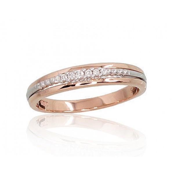 "Zelta gredzens ar briljantiem ""Atbilstība IV"" no 585 proves sarkanā zelta"