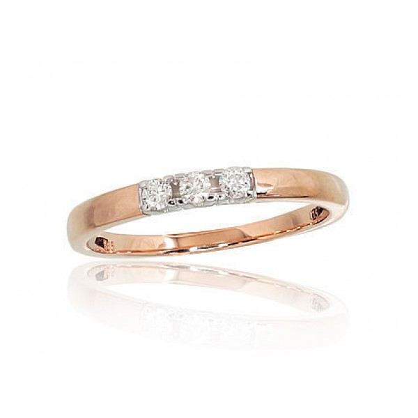 """Zelta gredzens ar briljantiem """"Tokija X"""" no 585 proves sarkanā zelta"""