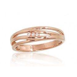 "Zelta gredzens ar briljantiem ""Arianna II"" no 585 proves sarkanā zelta"