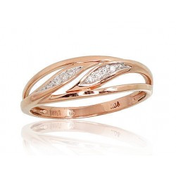 "Zelta gredzens ar briljantiem ""Arianna"" no 585 proves sarkanā zelta"