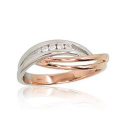 """Zelta gredzens ar briljantiem """"Atbilstība III"""" no 585 proves sarkanā zelta"""