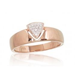"Zelta gredzens ar briljantiem ""Melisandra III"" no 585 proves sarkanā zelta"