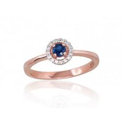 """Zelta gredzens ar briljantiem """"Burvība X"""" no 585 proves sarkanā zelta"""