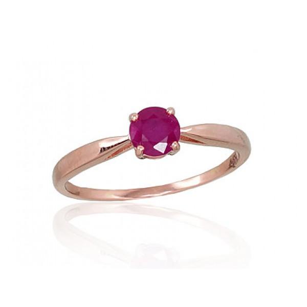"Zelta gredzens ar rubīnu ""Klasika XIV"" no 585 proves sarkanā zelta"