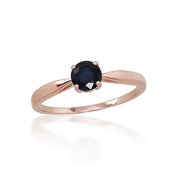 "Zelta gredzens ar safīru ""Klasika XV"" no 585 proves sarkanā zelta"