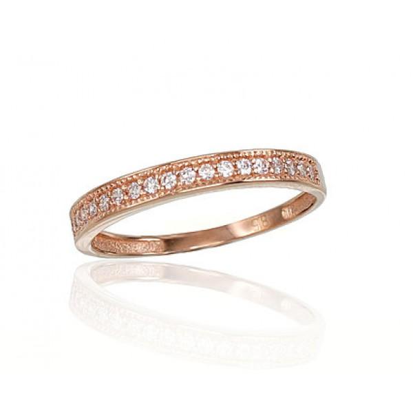 """Zelta gredzens """"Tokija XV"""" no 585 proves sarkanā zelta"""