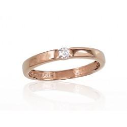 """Zelta gredzens """"Jaunā Klasika V"""" no 585 proves sarkanā zelta"""
