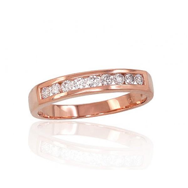 """Zelta gredzens ar briljantiem """"Tokija XVII"""" no 585 proves sarkanā zelta"""