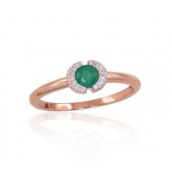 "Zelta gredzens ar briljantiem ""Madeleine"" no 585 proves sarkanā zelta"