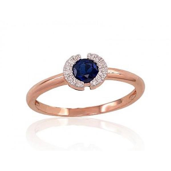 "Zelta gredzens ar briljantiem ""Madeleine III"" no 585 proves sarkanā zelta"