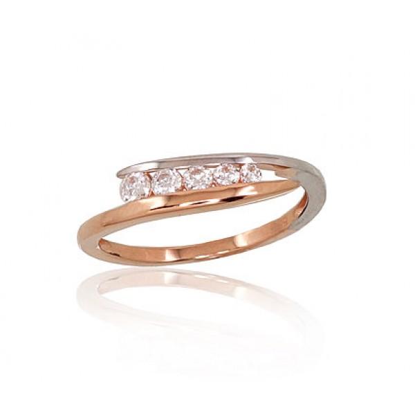 """Zelta gredzens """"Sonāte"""" no 585 proves sarkanā zelta"""