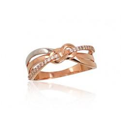 "Zelta gredzens ""Bezgalība"" no 585 proves sarkanā zelta"